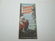 Vintage Fontana Village Resort Western North Carolina Brochure Advertisement