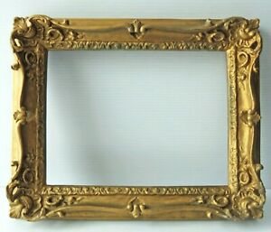 """Antique ORNATE GOLD PICTURE FRAME - 13"""" x 11"""""""