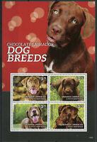 Grenadines of Grenada Dogs Stamps 2014 MNH Dog Breeds Chocolate Labrador 4v M/S