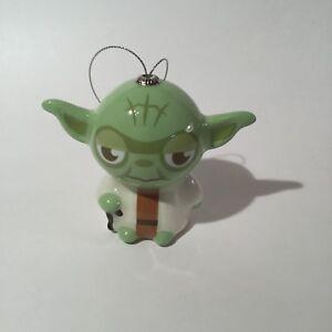 Hallmark Disney Decoupage Star Wars Yoda Christmas Ornament NWT