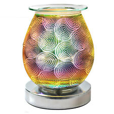 Desire Aroma Oval Wax Melt Burner Touch Sensitive Lamp 3D Circle Lights Design
