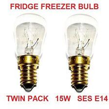 Universal Pigmeo Twin Pack 15W Frigorifero Congelatore Elettrodomestico Lampadina SES E14 Lampada