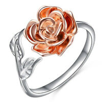 Red Rose Romantic Open Ring Rose Flower Rings Jewelry Prom Pageant Gifts one
