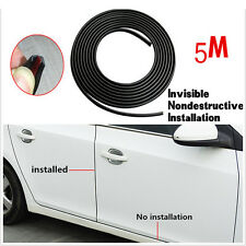 Black Moulding Trim Rubber Strip Car Door Scratch Protector Edge Guard With Glue