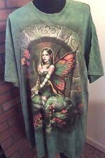 "2x Plus 52"" Bust 34"" Length Fantasy Fairy Tie Dye Shirt Top Blouse Batik"