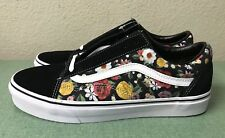 bf8b5868a5 Vans Old Skool Floral Black White Mens Sz 10 Sneakers Skate NEW!