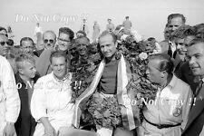 Juan Manuel Fangio Mercedes W196 ganador holandés Grand Prix 1955 fotografía