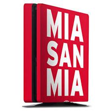 Sony Playstation 4 PS4 Slim Folie Aufkleber Mia san Mia FC Bayern München Rot