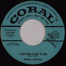 TERESA BREWER: A Good Man is Hard to Find / Siesta Time CORAL DJ Promo 45
