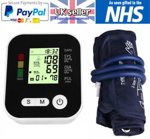 Digital Automatic Blood Pressure Monitor Upper Arm BP Machine w/ Cuff 180 Memory