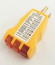 New Electrical Outlet Receptacle Tester Faulty Wire Finder Color Coded Wall Plug