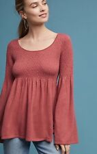NWT in Bag Anthropologie 98$ Bell Sleeve babydoll top size xs-Fast Shipping
