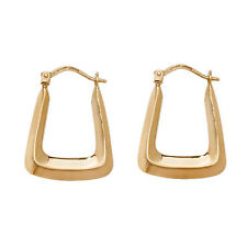 9ct Gold Hoop Creole Earrings