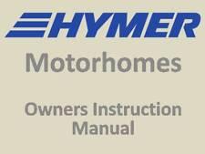 Hymer Camping-car concessionnaire et propriétaires manuel d'instruction - 242 pages