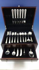 Old Brocade by Towle Sterling Silver Dinner Size Flatware Set Service 52 Pieces