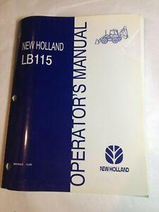 NEW HOLLAND LB 115 Loader Backhoe Operators MANUAL LB115 Ford Tractor