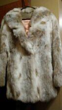 Mint Vtg Montgomery Ward Faux Fur Coat Beige Brown Small Medium Boho Gypsy