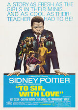To Sir With Love Sidney Poitier Repro Film POSTER