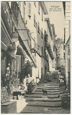 Italy, Bellagio, Lago di Como, Via Serbellani, Shops, old postcard
