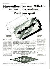 Publicité ancienne lames de rasoir Gillette nouvelles 1932