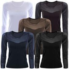 Markenlose Damenblusen, - tops & -shirts mit Rundhals-Ausschnitt in Größe 46