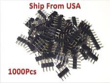 1000 PCS 4PIN RGB  Male Plug Adapter Connector for RGB 3528 5050 LED Strip