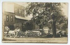 RPPC Pipe Factory at UNIONVILLE OH Half Lake County Ohio Real Photo Postcard