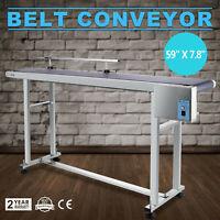 Power Slider Bed PVC Belt Electric Conveyor Guardrail Top-Grade 59''X 7.8''