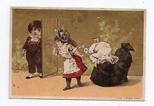 Chromo AU BON MARCHE - Pierrot -  Sac de charbon - Bougnat - Litho  J. MINOT