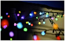 """50 x Outdoor Colour Changing Big Bulb LED Christmas String Lights 10m (32ft 9"""")"""