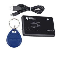EM4100 125Khz USB lector de tarjeta de identificación inteligente sin contacto RFID IC mandos de etiquetas de tarjeta de clave