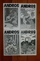Andros #5 6 7 8 Max Clotfelter Profanity Hill Seattle Southern Goth Punk Zines