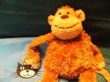 """JellyCat scimmia giocattolo morbido peluche Trapunta Marrone Crema 17"""" circa j229 in buonissima condizione"""