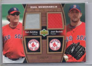 2007 UD Elements Dual Memorabilia Curt Schilling Josh Beckett Jersey #16/50