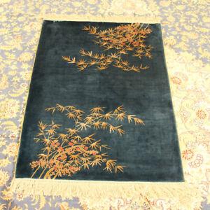 Yilong Oriental Hand Knotted Area Rugs Bamboo Design Silk Handmade Villa Carpet