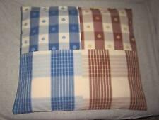 CUSCINO CUCCIA CANE LETTINO PATCHWORK cm 60x54 FATTO A MANO in tela cotone 100%