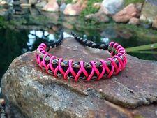 COMPOUND BOW WRIST SLING Black Multi Camo Hot Pink Micro Braid X Weave