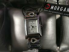 Morgan Ladies Watch Stainless Steel & Diamonte Heart Detail Giftbox BNWB