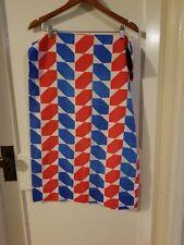 Vintage Red White Blue Pillowcase Fabric - Geometric Design