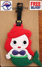 Luggage School Tag Princess Ariel Mermaid Suitcase Bag Travel