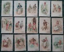 15  Chromos Chicorée BONZEL - Haubourdin - Art Nouveau - Années 1900 - Femme s -
