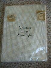 BNIP Vintage Christian Dior Silver / White Opera Fish Net Tights One Size