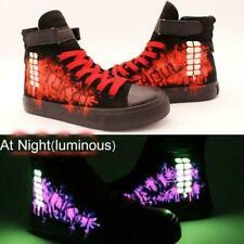 Anime Tokyo Ghoul Kaneki Ken Luminous Canvas Shoes Cosplay Painted unisex MOON