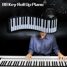 88 Key Electronic Piano Keyboard Silicon Flexible Roll Up with Loud Speaker Gift