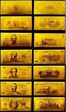 Dollar Set 999.9 Gold 24 Karat Banknoten USA
