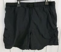 COLUMBIA Womens Black Hiking Fishing Outdoor Shorts Pocket Belt Size L Large