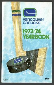 ORIGINAL 1973-74 VANCOUVER CANUCKS NHL MEDIA GUIDE YEARBOOK FACT BOOK