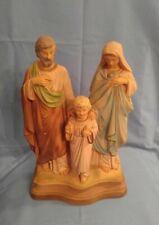 Vintage Chalkware Jesus Virgin Mary Joseph Holy Family Universal Statuary 1956