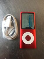 Apple iPod nano 4th Generation (PRODUCT) RED (8 GB) New Battery. New LCD. Nice!