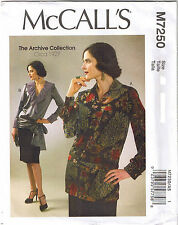 Vintage 20s Flapper Tops McCalls Sewing Pattern Plus Size 14 16 18 20 22